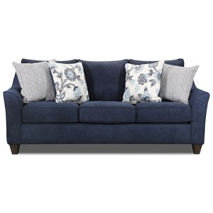 Contemporary Sofa with Flare Tapered Arms