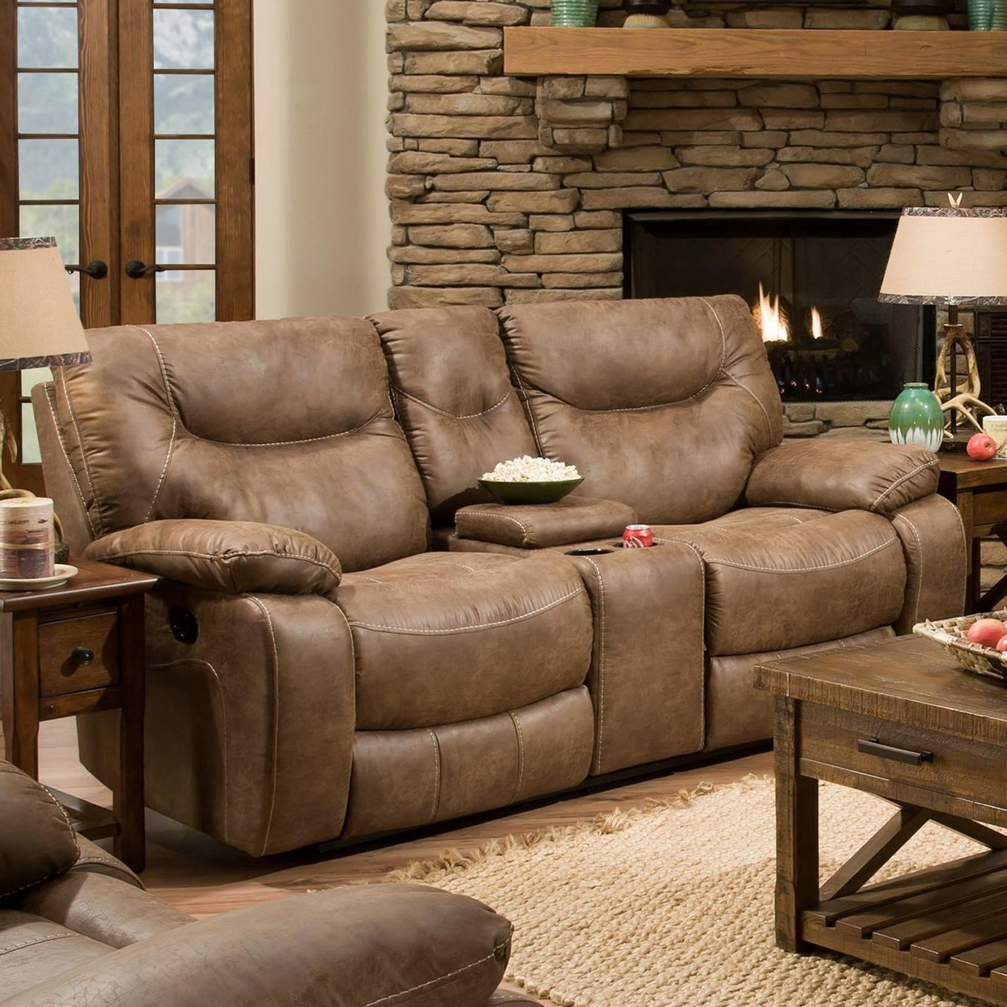 50250 BR Casual Double Motion Console Loveseat by United Furniture Industries at Bullard Furniture