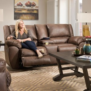 Double Motion Console Loveseat with USB Charging Port