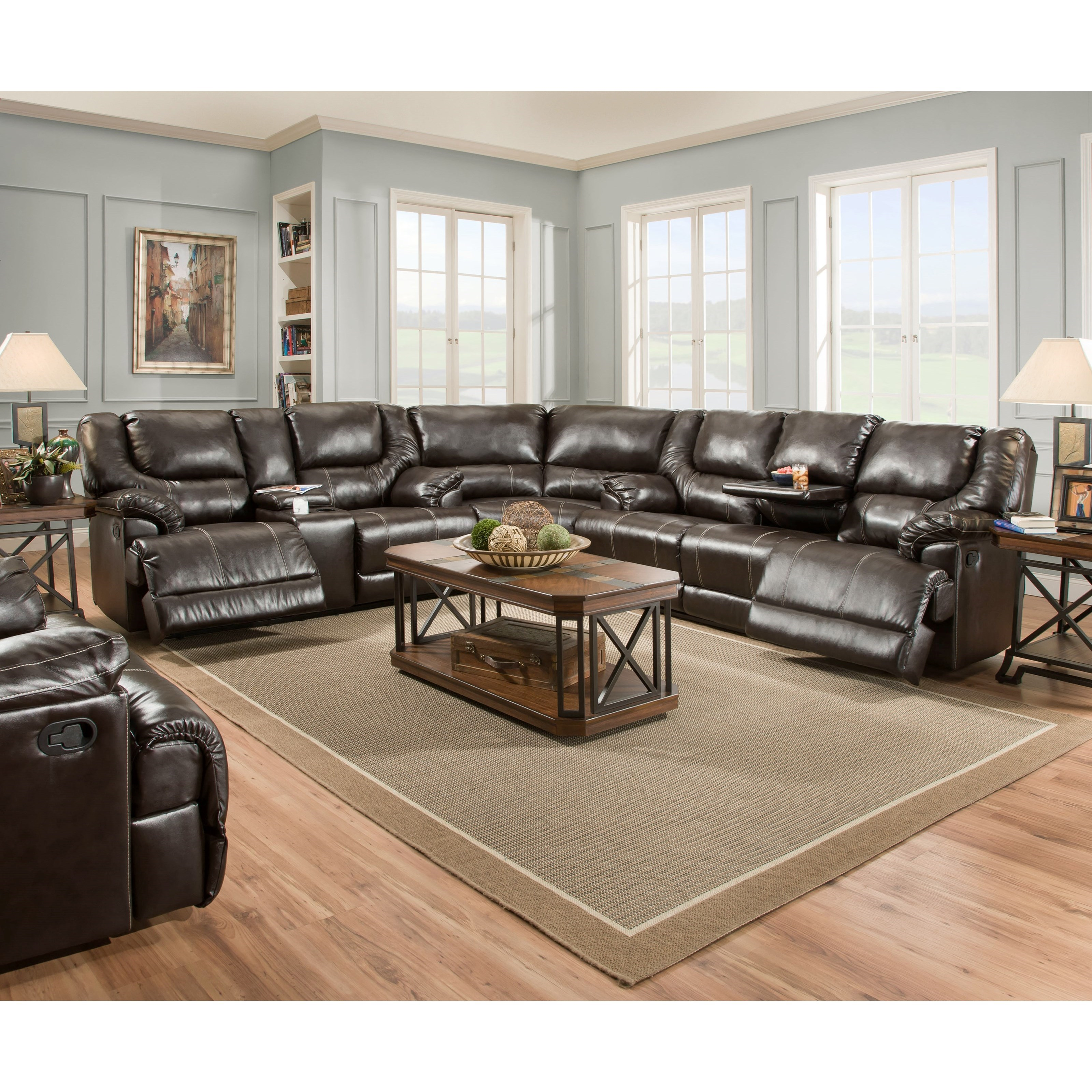 50451 3-Piece Reclining Sectional by United Furniture Industries at Bullard Furniture
