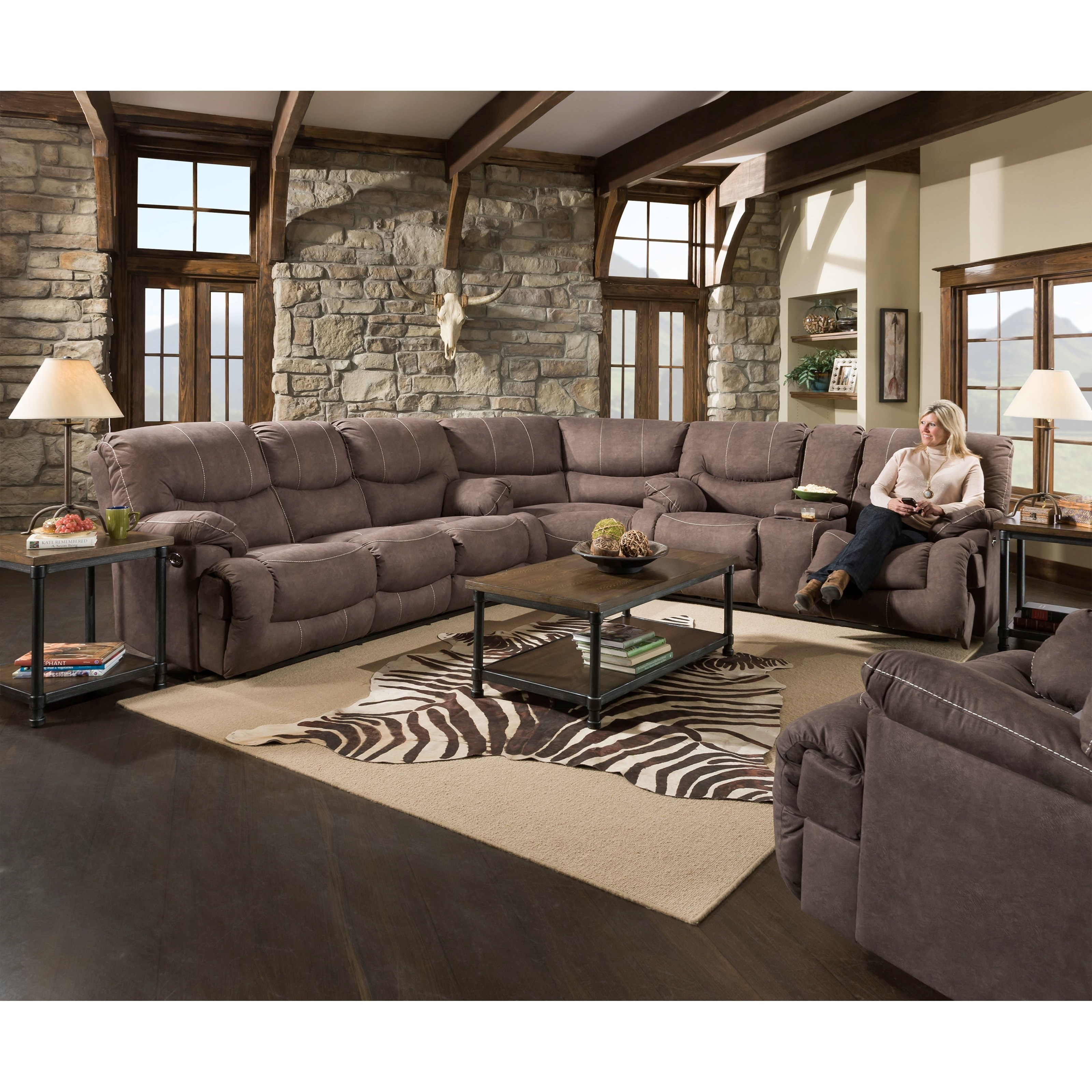 50455BR 3-Piece Power Reclining Sectional by United Furniture Industries at Bullard Furniture