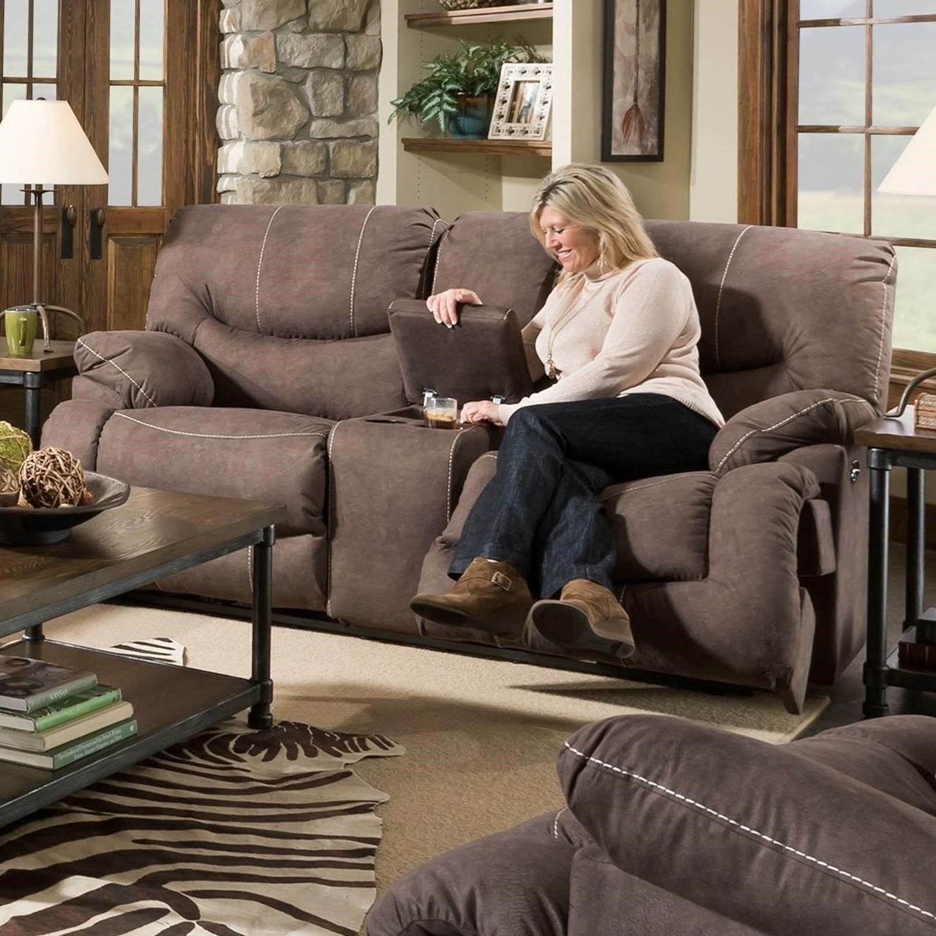 50455BR Reclining Console Loveseat by United Furniture Industries at Bullard Furniture