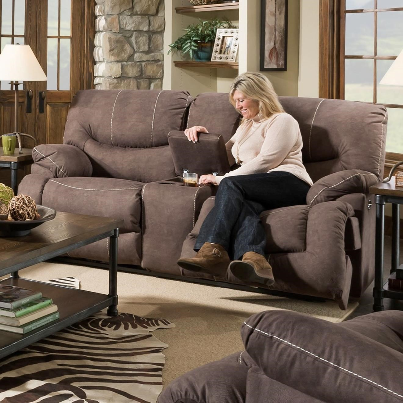 50455BR Power Reclining Console Loveseat by United Furniture Industries at Dream Home Interiors