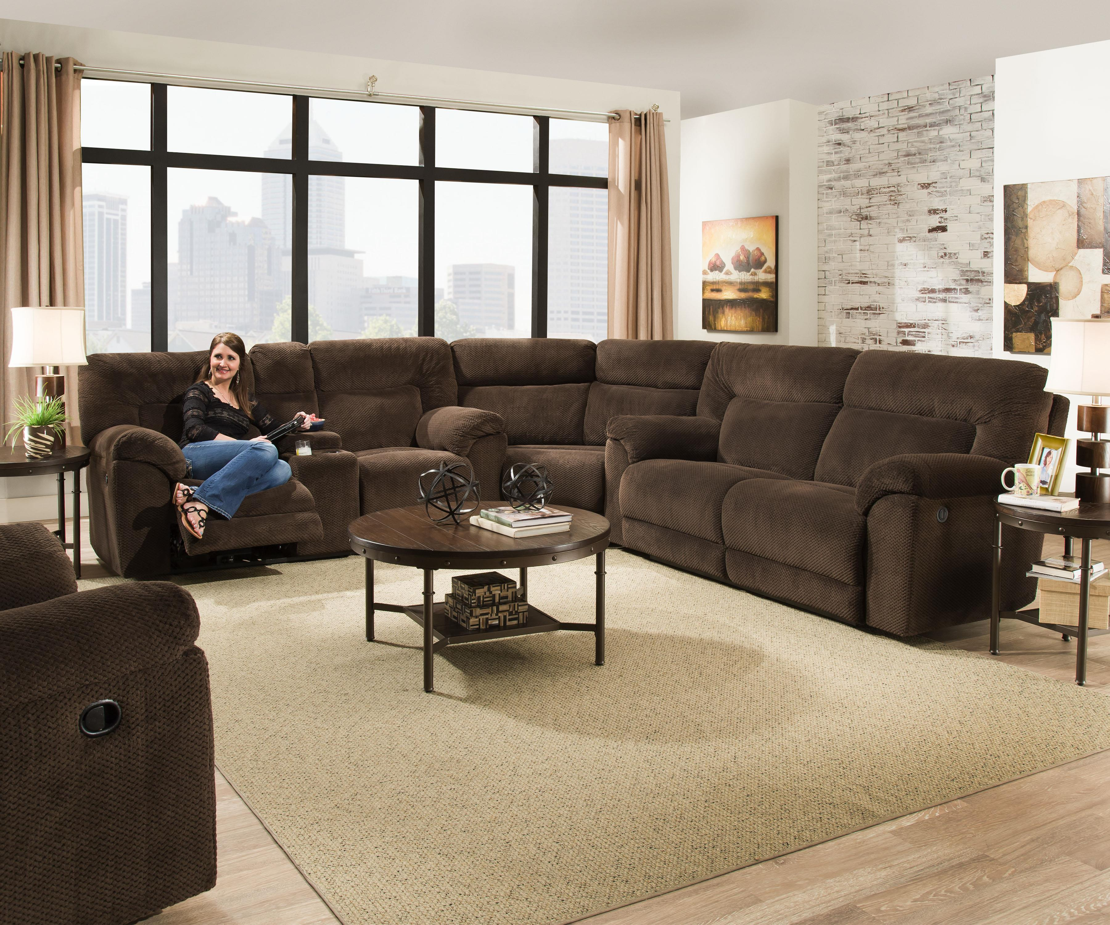 50570 Reclining Sectional Sofa by United Furniture Industries at Household Furniture