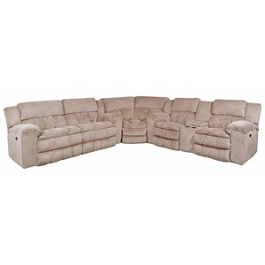 Casual 5 Seat Power Reclining Sectional