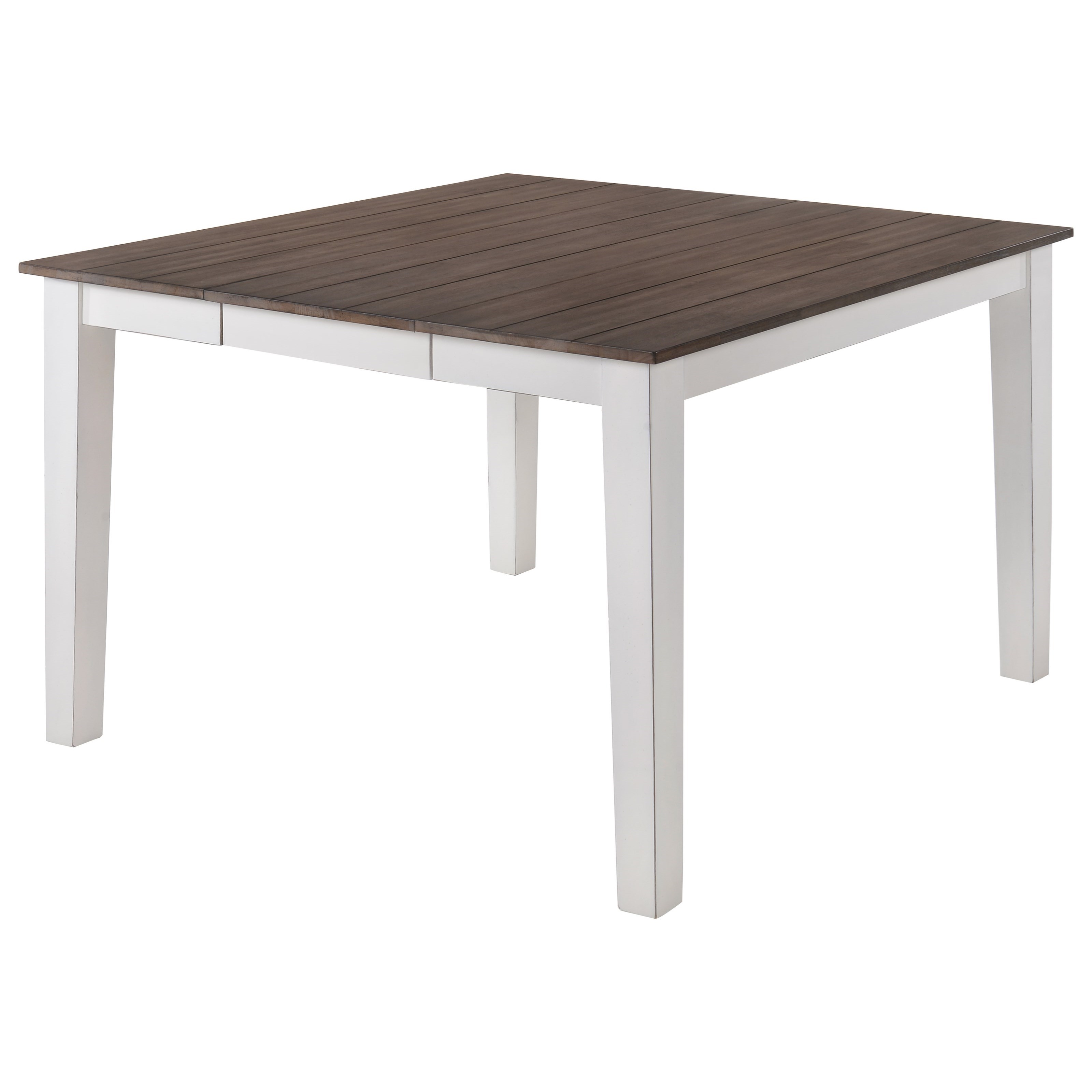 5057 Counter Height Square Dining Table by Lane at Powell's Furniture and Mattress