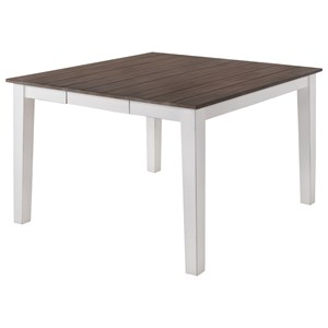 Relaxed Vintage Counter Height Square Dining Table