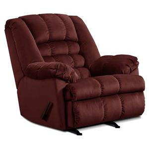 Casual Big Man's Rocker Recliner with Large and Comfortable Construction