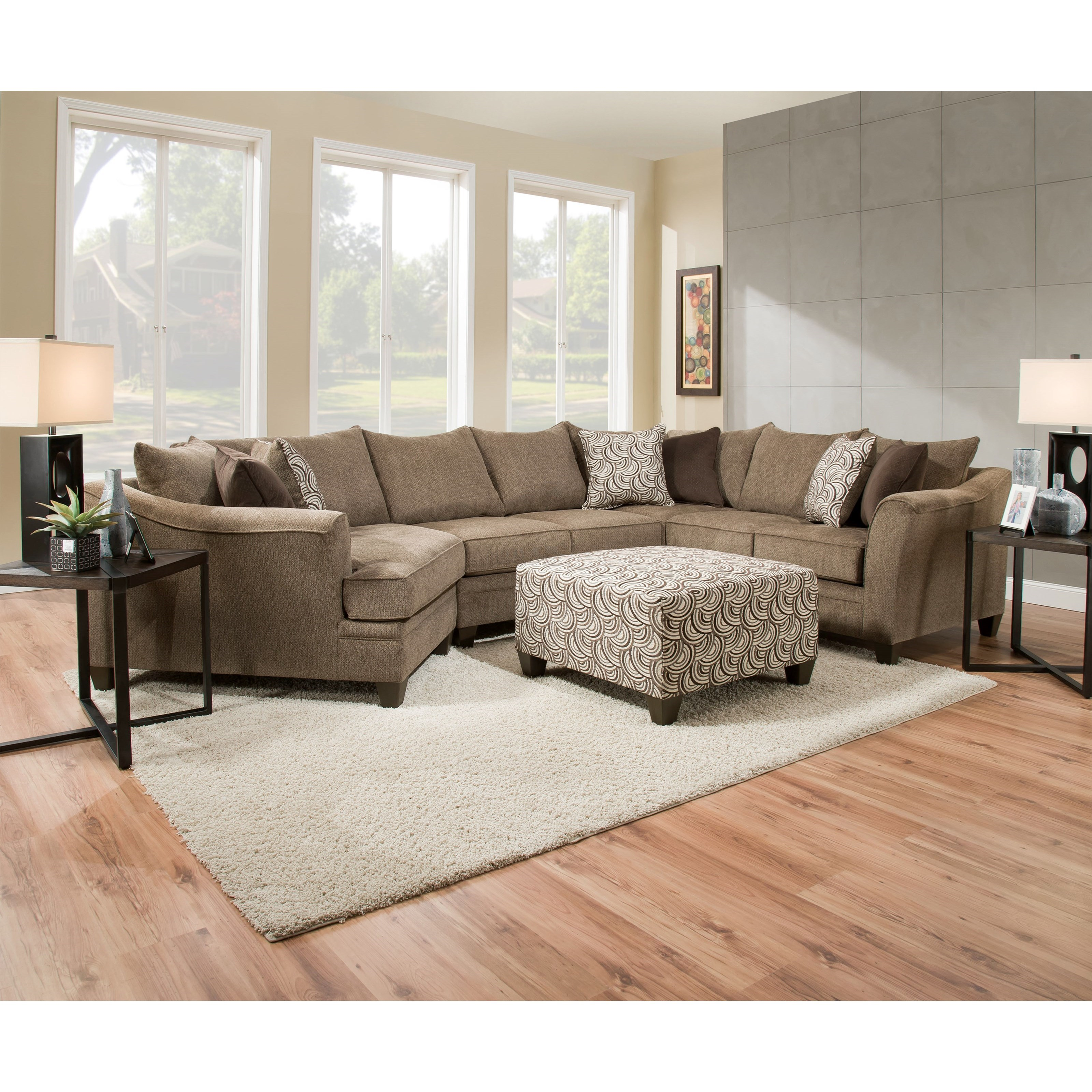 Kiara Transitional Sectional Sofa by Umber at EFO Furniture Outlet