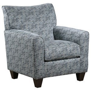 Contemporary Accent Chair with Tapered Feet