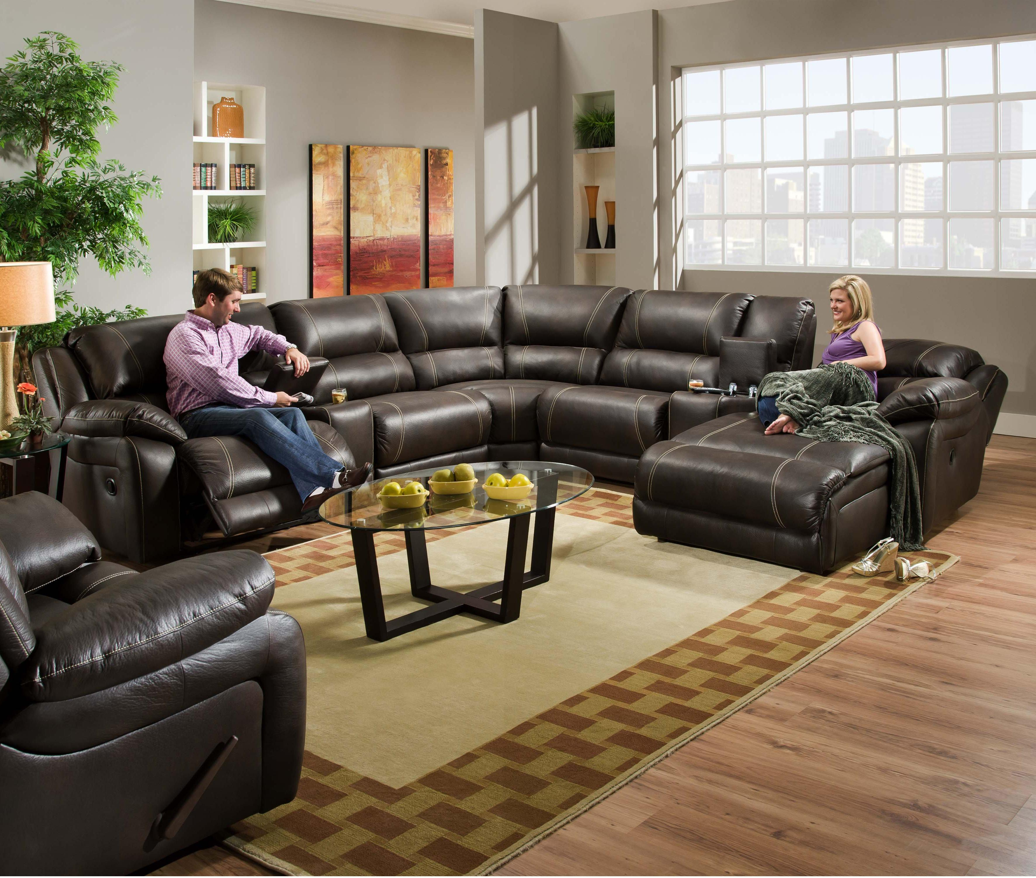 660 Casual Reclining Sectional Sofa by United Furniture Industries at Dream Home Interiors