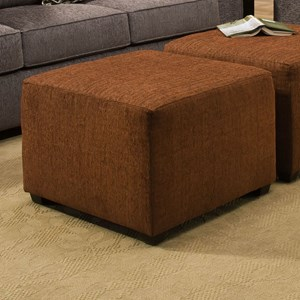 Transitional Cube Ottoman