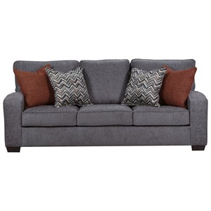 Transitional Sofa Sleeper with Track Arms