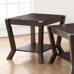 End Table with Shelf