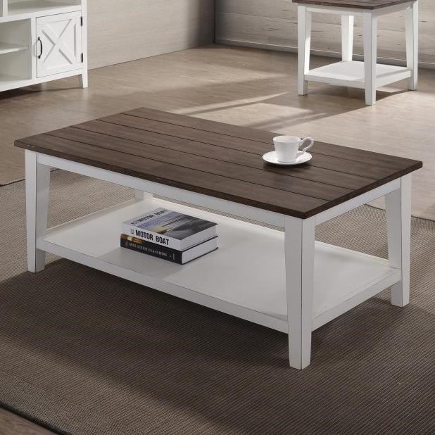 7557 Coffee Table by United Furniture Industries at Dream Home Interiors