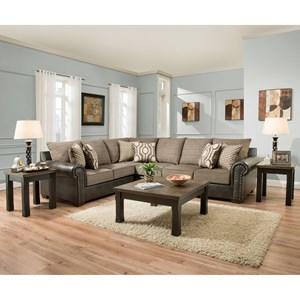 5 Seat Sectional Sofa