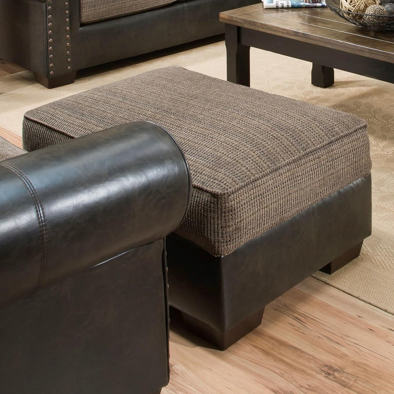 7591 Storage Ottoman by United Furniture Industries at Del Sol Furniture