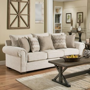 Transitional Sofa Sleeper with Rolled Arms