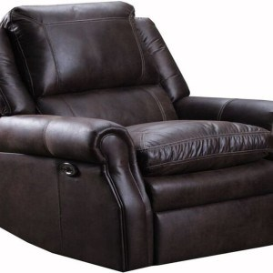 Transitional Power Rocker Recliner with Rolled Arms