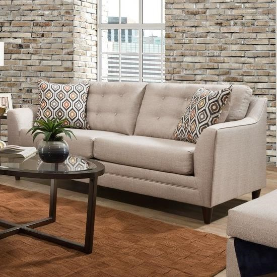 8126 Sofa with Mid-Century Modern Style by United Furniture Industries at Pilgrim Furniture City