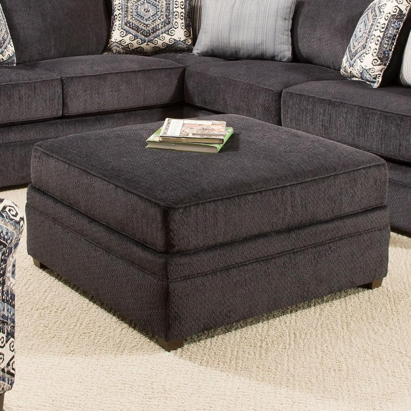 Transitional Cocktail Ottoman