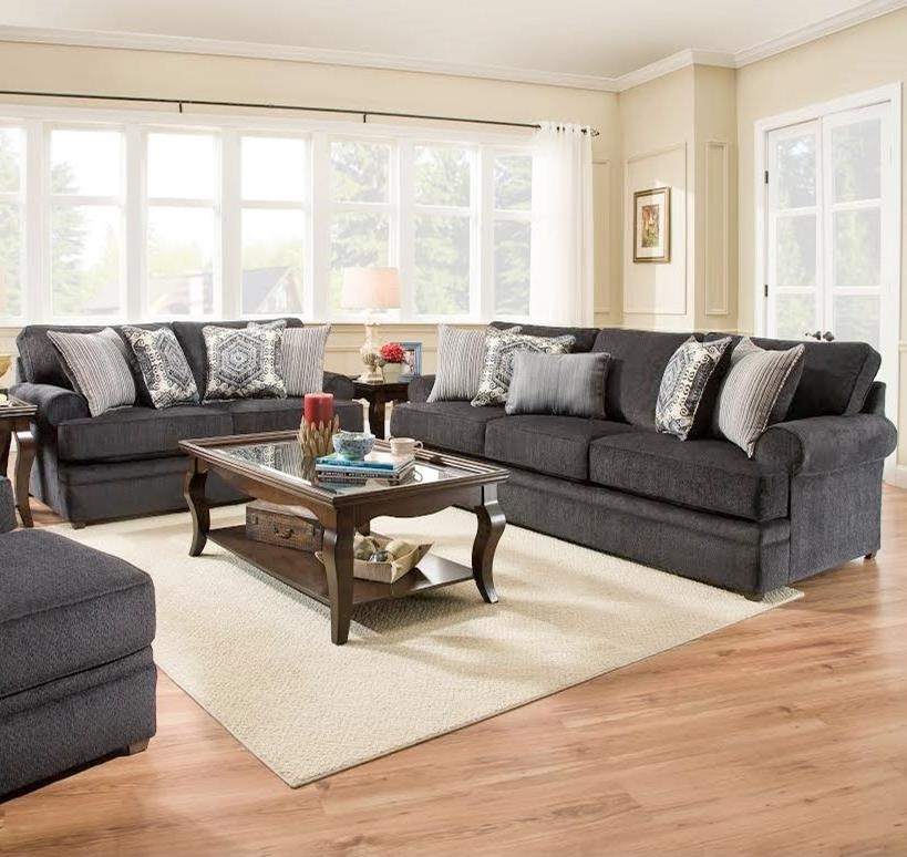 8530 BR Stationary Living Room Group by United Furniture Industries at Dream Home Interiors