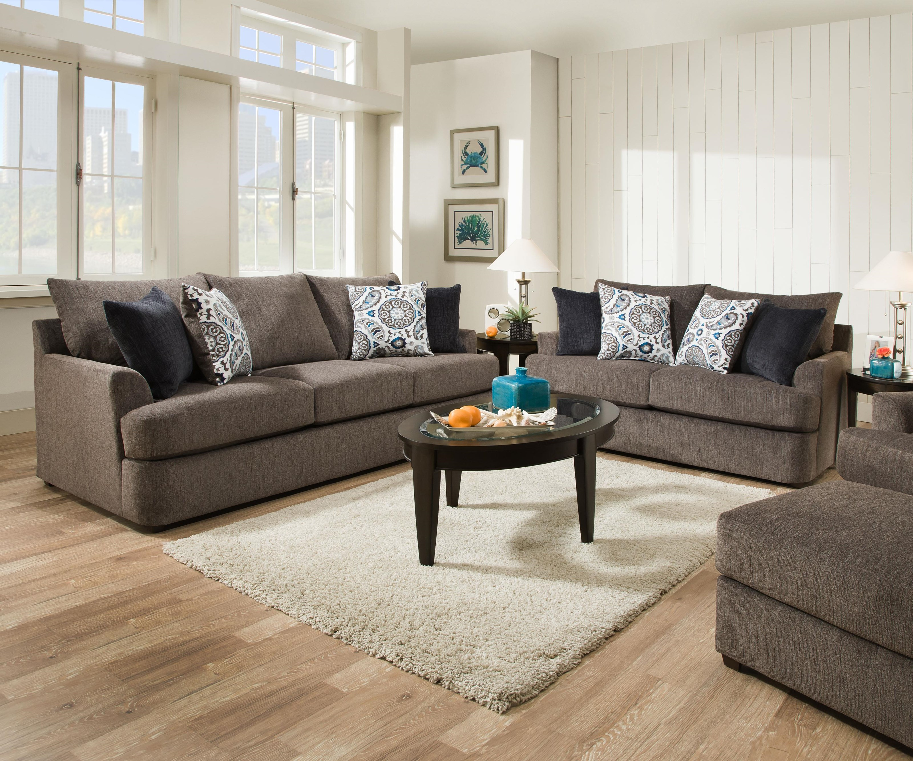 8540 Grand Sofa & Love Seat by United Furniture Industries at Del Sol Furniture