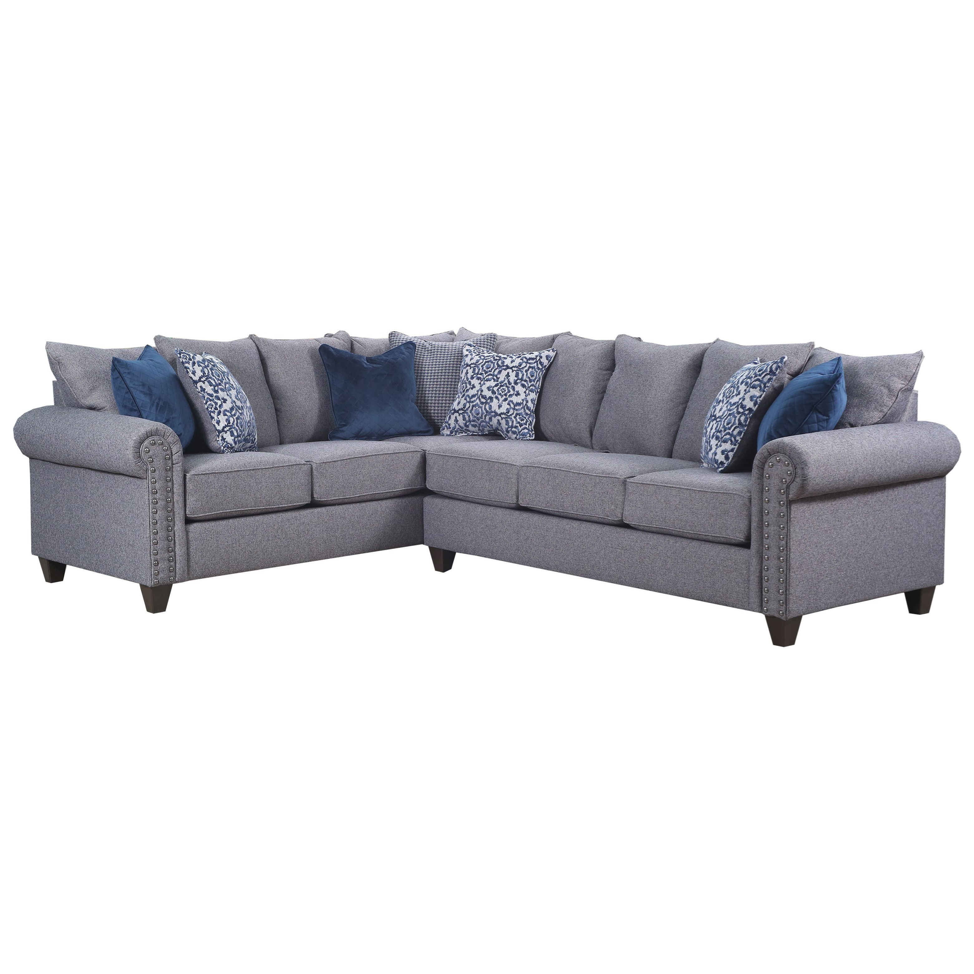 9175BR 5 Seat Sectional by United Furniture Industries at Dream Home Interiors