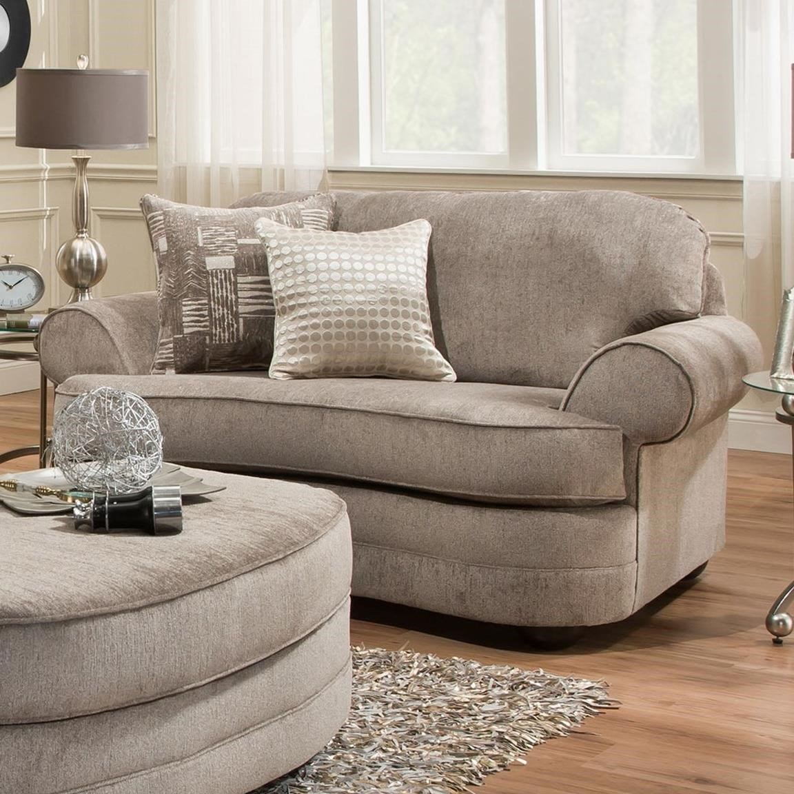 9255BR Transitional Chair by United Furniture Industries at Dream Home Interiors