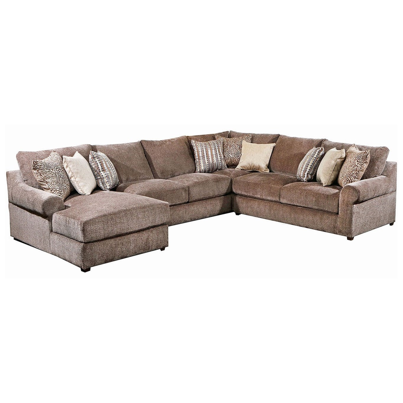 9906 4-Piece Sectional by United Furniture Industries at Dream Home Interiors