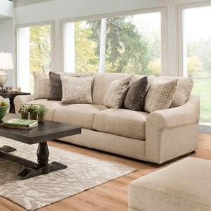 Transitional Sofa with Pocketed Coil Seating