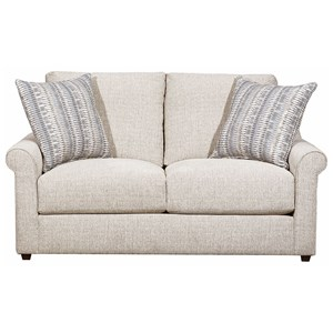 Transitional Love Seat with Pocketed Coil Seating