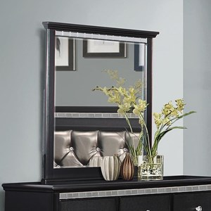 Transitional Mirror with Crystal Inserts
