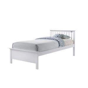 Twin White Bed