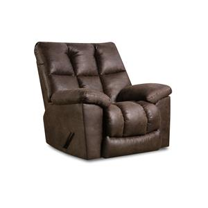 Rocker Recliner with Pillow Arms and Tufted Back