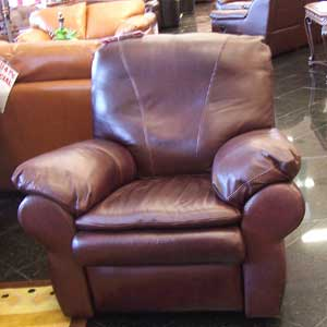 United Leather Churchill Leather Glider Swivel Recliner