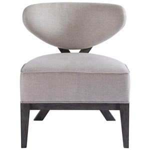Tremont Accent Chair with X-Shaped Back