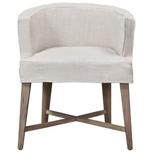 Slip Covered Barrel Chair