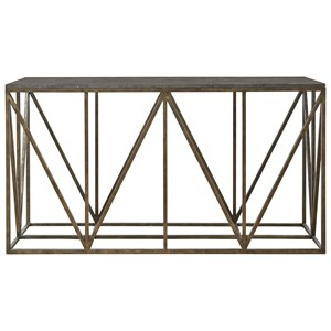 Truss Console Table with Bluestone Top