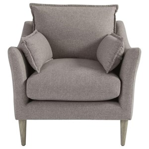 Contemporary Chair with Arm Pillows