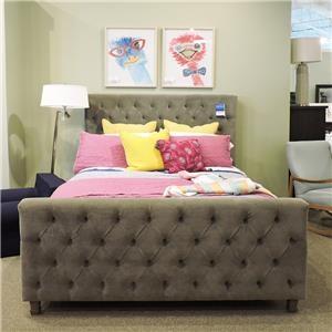 Queen Velvet Upholstered Bed