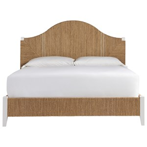 Queen Seabrook Panel Bed with Woven Abaca Frame
