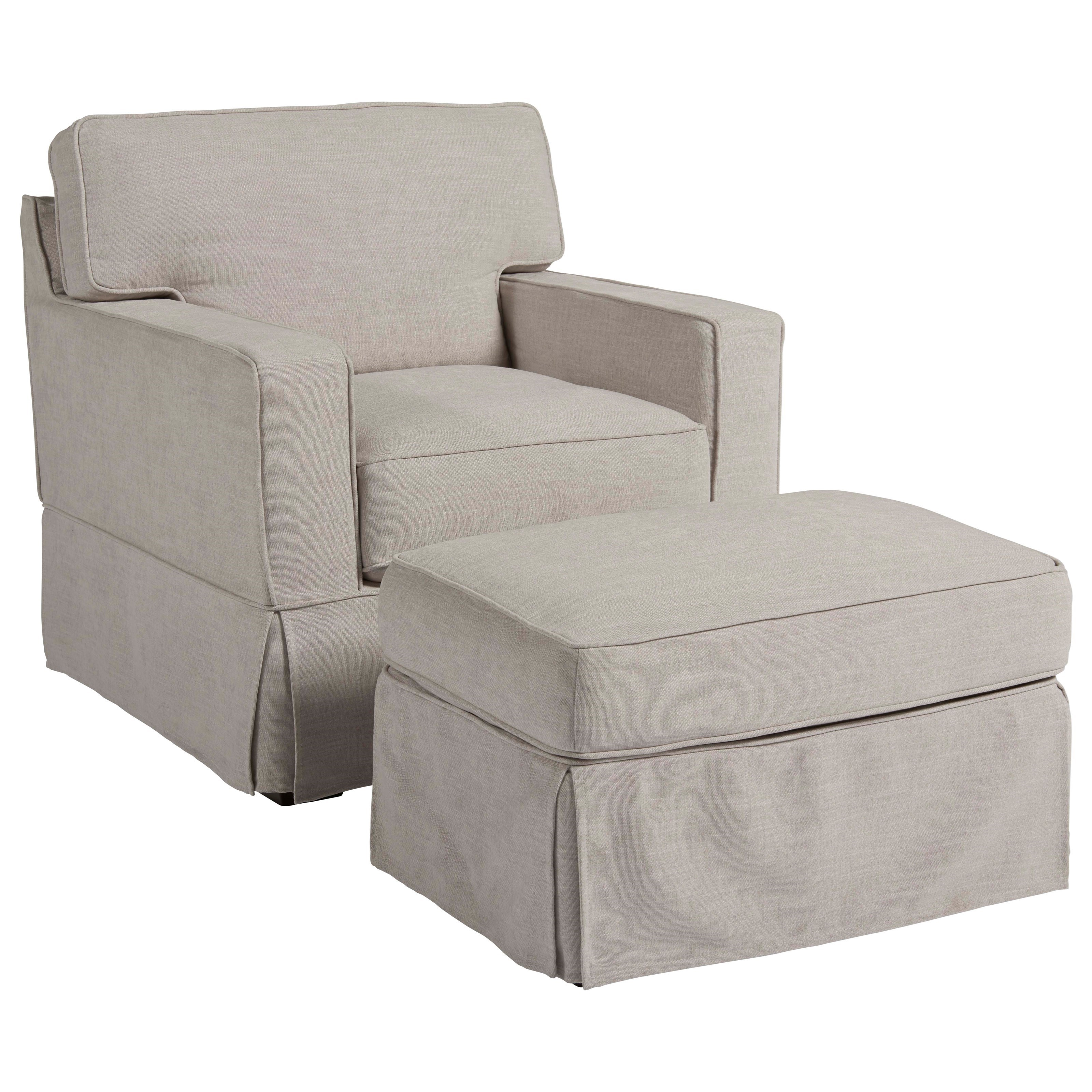 Coastal Living Home - Escape Chatham Chair and Ottoman by Universal at Baer's Furniture