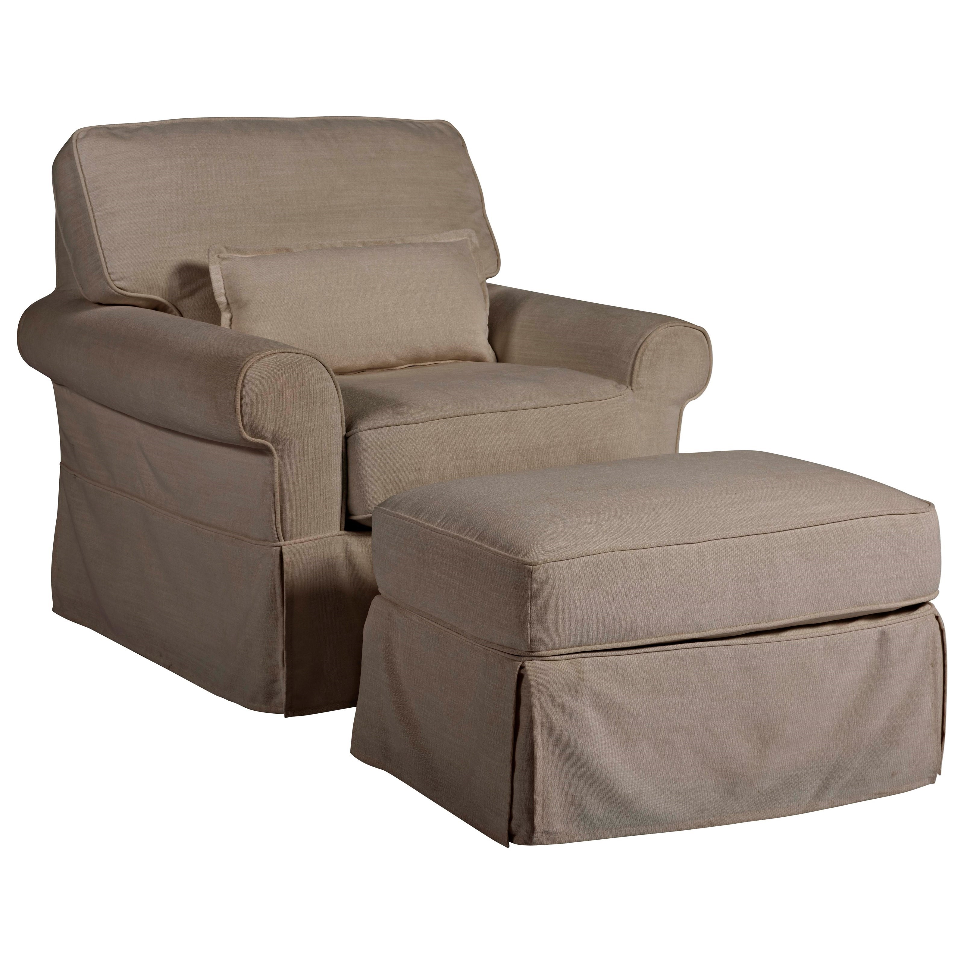 Coastal Living Home - Escape Ventura Chair and Ottoman by Universal at Baer's Furniture