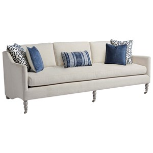Kiawah Sofa with Turned Legs and Casters