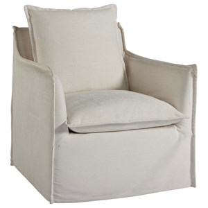 Siesta Key Swivel Chair with Kidney Pillow
