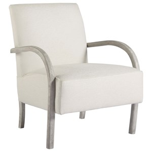 Bahia Honda Accent Chair with Rounded Wood Arms