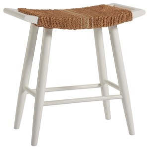 Counter Stool with Woven Abaca Finish