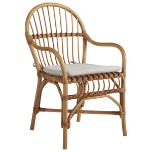 Sanibel Arm Chair with Rattan and Bamboo