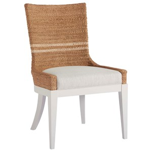 Siesta Key Dining Chair with Woven Abaca Back
